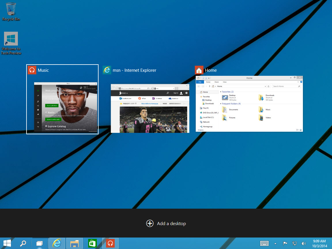 how to quickly open task view windows 10